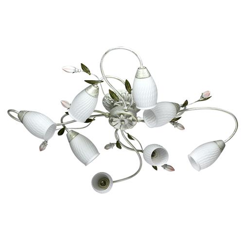 Hängelampe Verona Flora 8 Weiß - 334013908