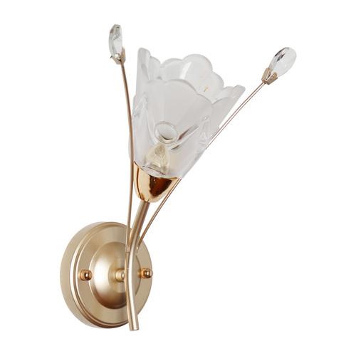 Wandleuchte Amelia Flora 1 Gold - 294026301