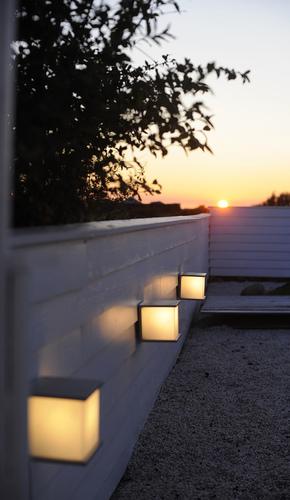 Außenwandleuchte mit austauschbarer Lichtquelle Lutec BOX CUBE
