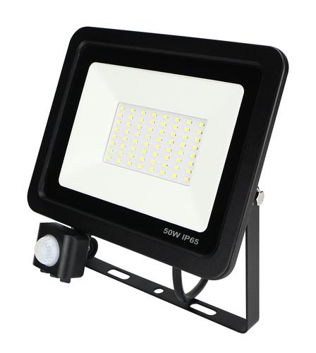 LED ZeXt Slim Flutlicht mit Bewegungssensor 50W / 230V 6400K PIR