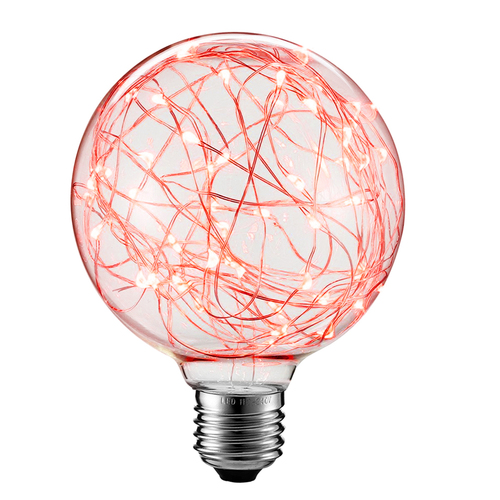 Dekorative LED-Oberlichtlampe G125 E27 2W 230V Rot