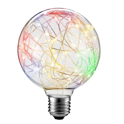 Dekorative LED-Oberlichtlampe G125 E27 2W 230V RGB