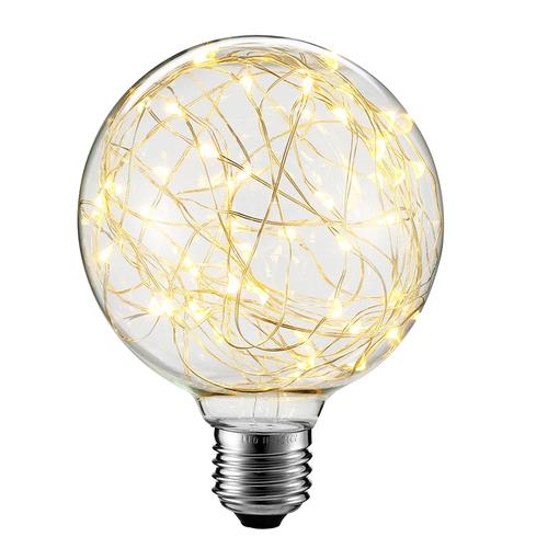 Dekorative LED-Oberlichtlampe G125 E27 2W 230V Gelb