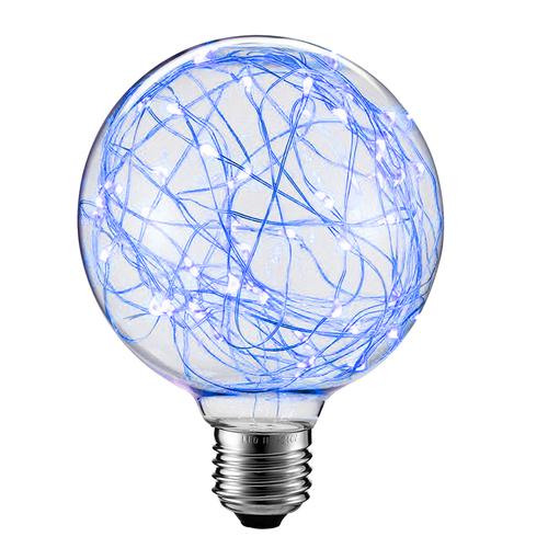 Dekorative LED-Oberlichtbirne G80 E27 2W 230V Blau