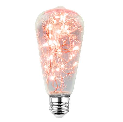 Dekorative LED-Oberlichtbirne ST64 E27 2W 230V Rot