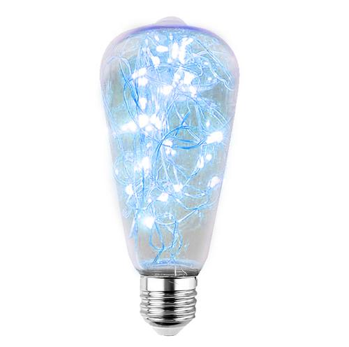 Dekorative LED-Oberlichtbirne ST64 E27 2W 230V Blau
