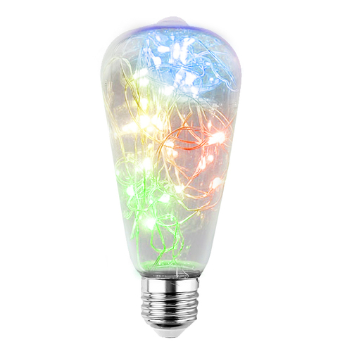 Dekorative LED-Oberlichtbirne ST64 E27 2W 230V RGB