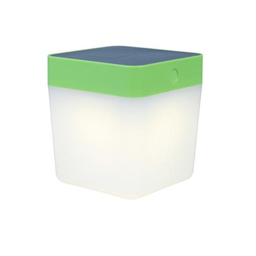 Solar Tischleuchte Lutec TABLE CUBE grün
