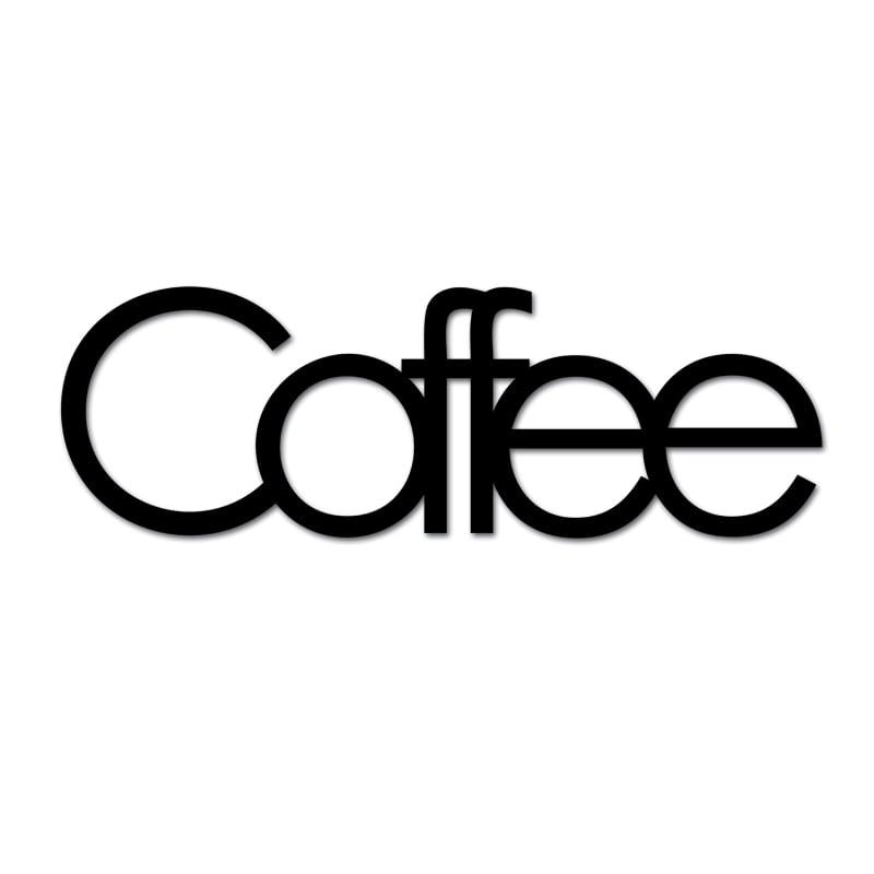 Inschrift an der Wand Kaffee schwarz