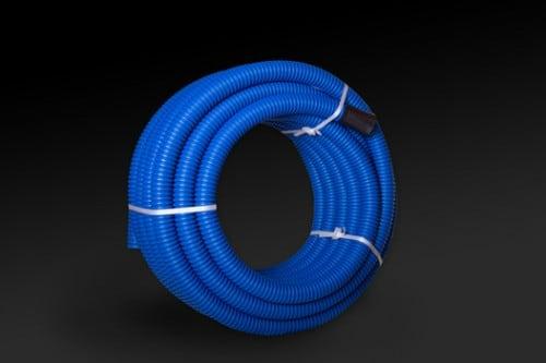 Gewelltes Scherrohr verstärkt gegen Masse FI40 Blau