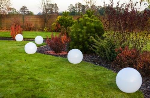 Solarkugel Flexi Ball Solar mit einem Durchmesser von 40 cm mit Fernbedienung