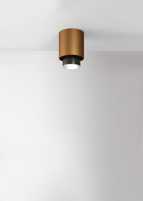Strahler Fabbian Claque F43 20W 10cm - Bronze - F43 E02 76