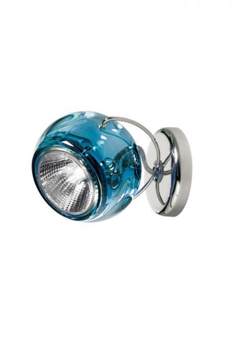 Wandleuchte Fabbian Beluga Farbe D57 7W - blau - D57 G13 31