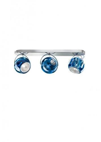 Fabbian Beluga Color D57 7W Deckenleuchte Triple - blau - D57 G25 31