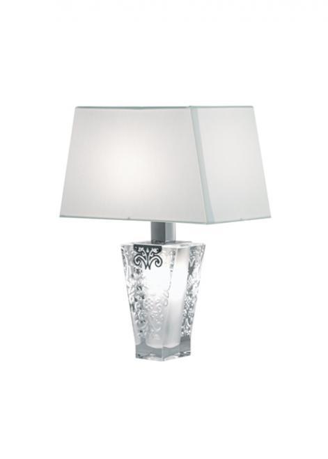 Fabbian Vicky D69 5W Tischlampe + Lampenschirm - Weiß - D69 B03 01
