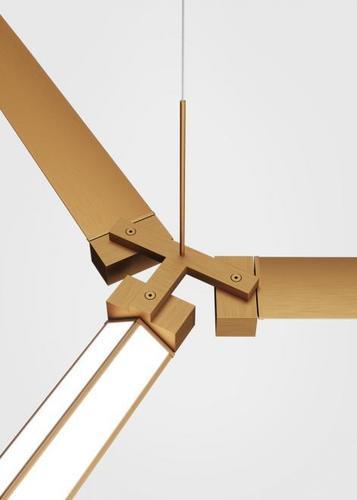 Fabbian Pivot F39 Zubehör Dreifachverbinder - Bronze - F39 Z03 76