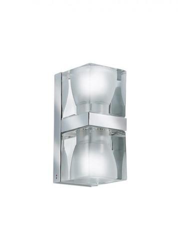 Wandleuchte Fabbian Cubetto D28 7W Chrom - Transparent - D28 D01 00