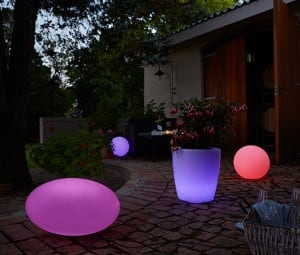 Set mit 3 Solar Gartenkugeln: 30cm 40cm 50cm small 2