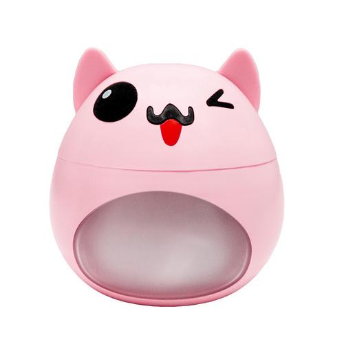 Rosa LED-Luftbefeuchter in Form einer Katze mit Lüfter und USB-Lampe