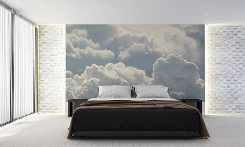 Wandgemälde Wolken für das Schlafzimmer, Himmel, Weiß, Leichtigkeit