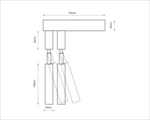 Moderne Wandleuchte SHILO-DOHAR alha E 9014 small 8