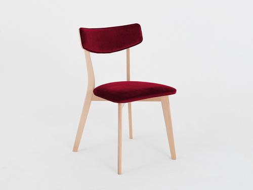 Stilvoller Stuhl TONE SOFT natürliche, saftige Cranberry