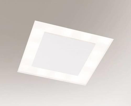Weiße Einbauleuchte BANDO 3325-B Shilo 18xE27 9W quadratisch