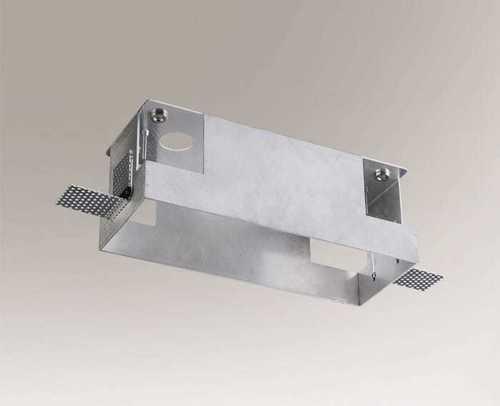 Montagebox OMURA 3338 für eine Dreipunktlampe, schraubenlose Installation der Lampen