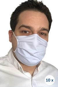 Baumwollschutzmaske an Trägern 10 Stück blau small 0