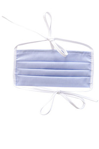 Baumwollschutzmaske an Trägern 10 Stück blau small 3