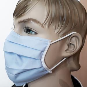 Baumwollschutzmaske an Trägern 10 Stück blau small 7