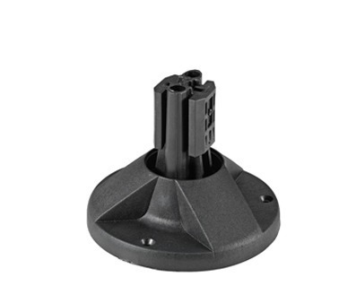 Montagebasis mit schwarzem Clip für Montagepfosten 1000, 150000, 2000 mm