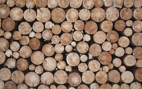 Küchentapete - Holzbalken, natürliche Farben, skandinavischer Stil
