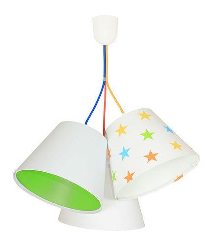 Lampe für Kinder EIMER E27 60W bunte Sterne, grün
