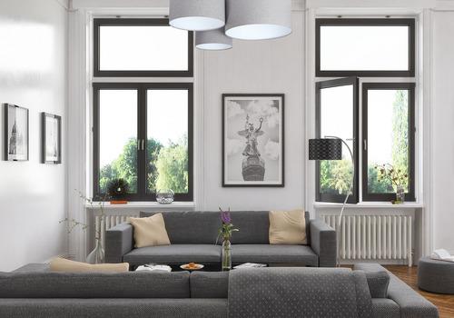 Classic Elements 60W E27 Deckenleuchte aus grau / weißem Filz