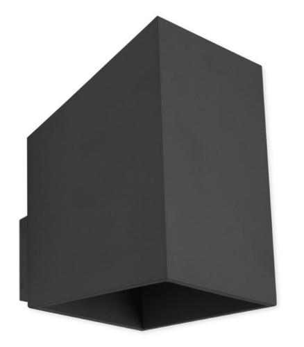 Design Wandleuchte Rubik Long Black