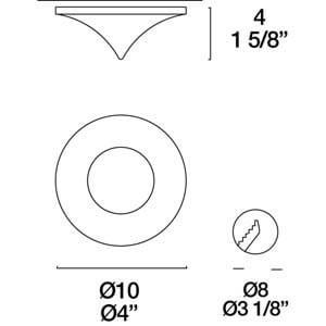 Eyelet Itre (Leucos) SDC 891 Halogenleuchte 1X50W GU5,3 small 3
