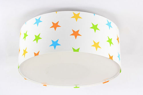 Kinderlampe Luminance E27 60W LED weiß / bunte Sterne