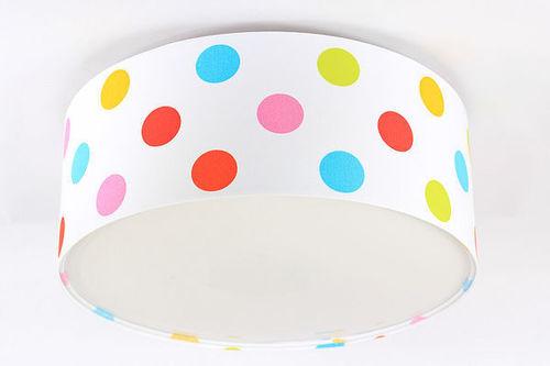 Kinderlampe - Luminance E27 60W LED Deckenleuchte mit bunten Punkten