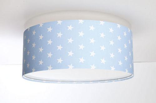 Deckenleuchte für ein Jungenzimmer - Luminance E27 60W LED puderblau / weiße Deckenleuchte