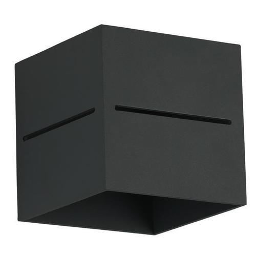Moderne Wandleuchte Quado Pro A Black