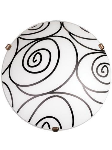 Klassische Plafond Helix Weiß P1