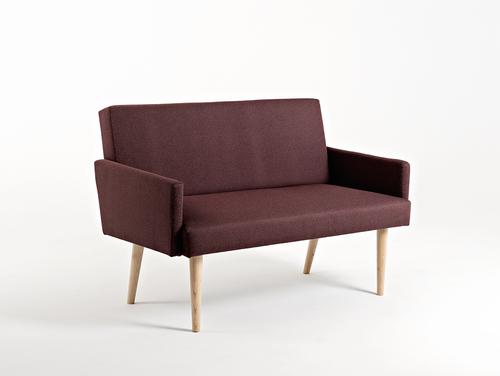 REDEN 2-Sitzer-Sofa - Hämatit (ml69), natürlich