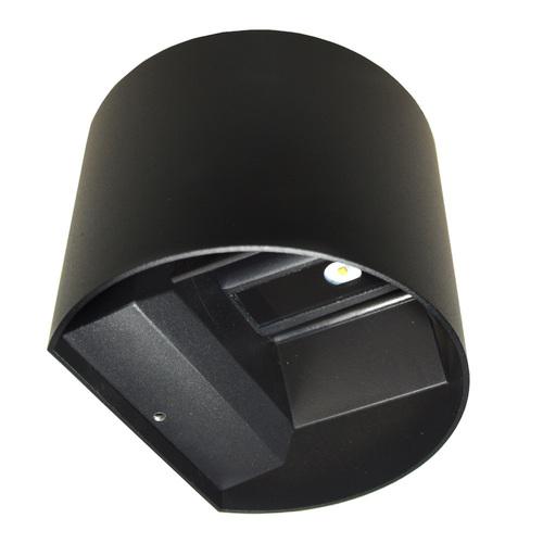 LED-Fassadenleuchte Kreo 2x3w rund 4000K schwarz Kreo 2x3w 4000K einstellbarer Beleuchtungswinkel