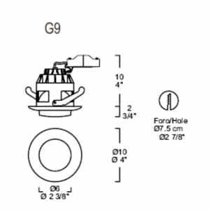 Eyelet Itre (Leucos) SD 505 Halogenleuchte G9 / GU5,3 small 1