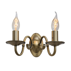 Stilisierte Brown Marion E14 2-Lampen-Wandleuchte small 1