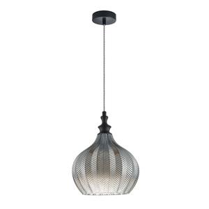 Schwarze hängende Lampensäbel E27 small 1