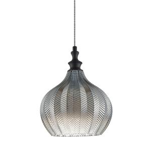 Schwarze hängende Lampensäbel E27 small 0