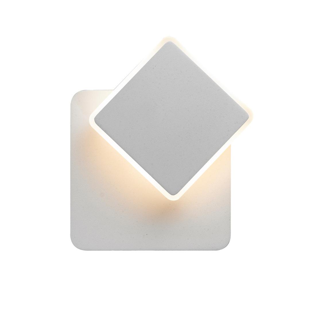 Weiße moderne Senato LED Wandleuchte