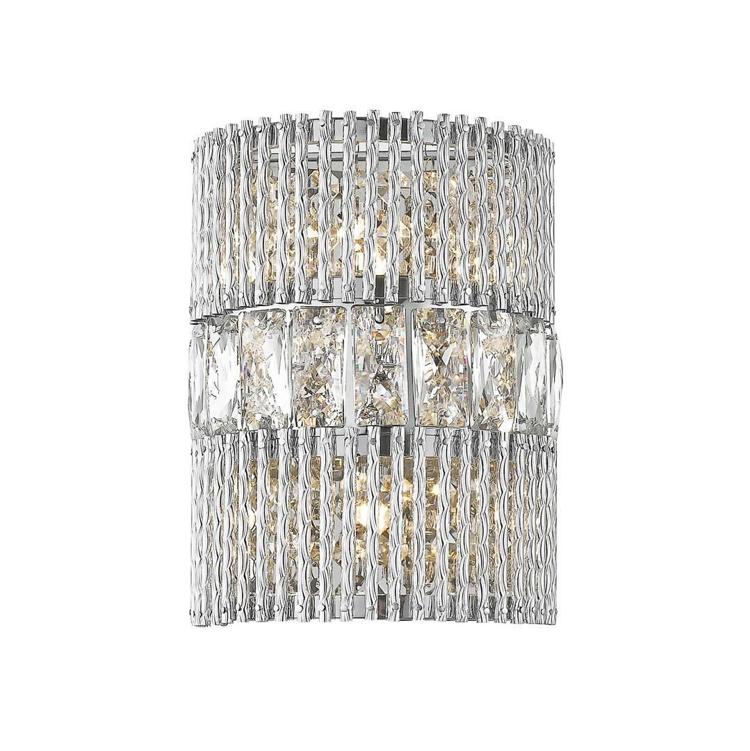 Silberne moderne Wandleuchte Felicia G9 2-Birne